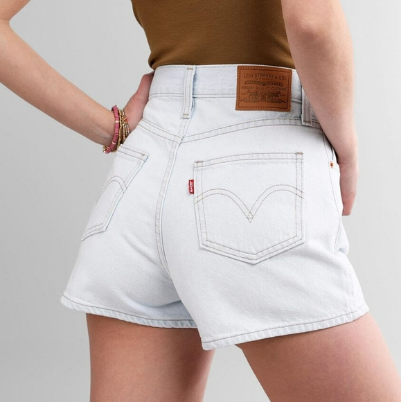 Levi's Premium mom denim shorts